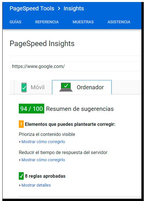 JUROGA Google PageSpeed